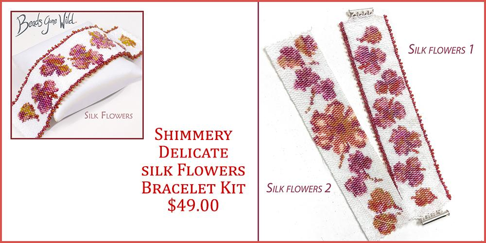 Shimmery beautiful flower bracelet