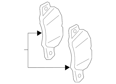 Porsche 718 Rear Brake Pads for Cayman/Boxster Base and S Model