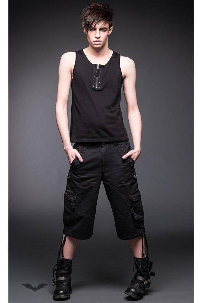 3/4 Pants With 2 Side Pockets And D-Ring-Queen of Darkness-Dark Fashion Clothing