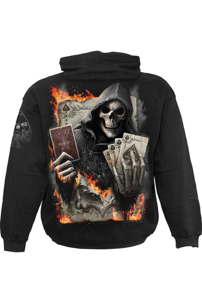Ace Reaper - Hoody Black-Spiral-Dark Fashion Clothing