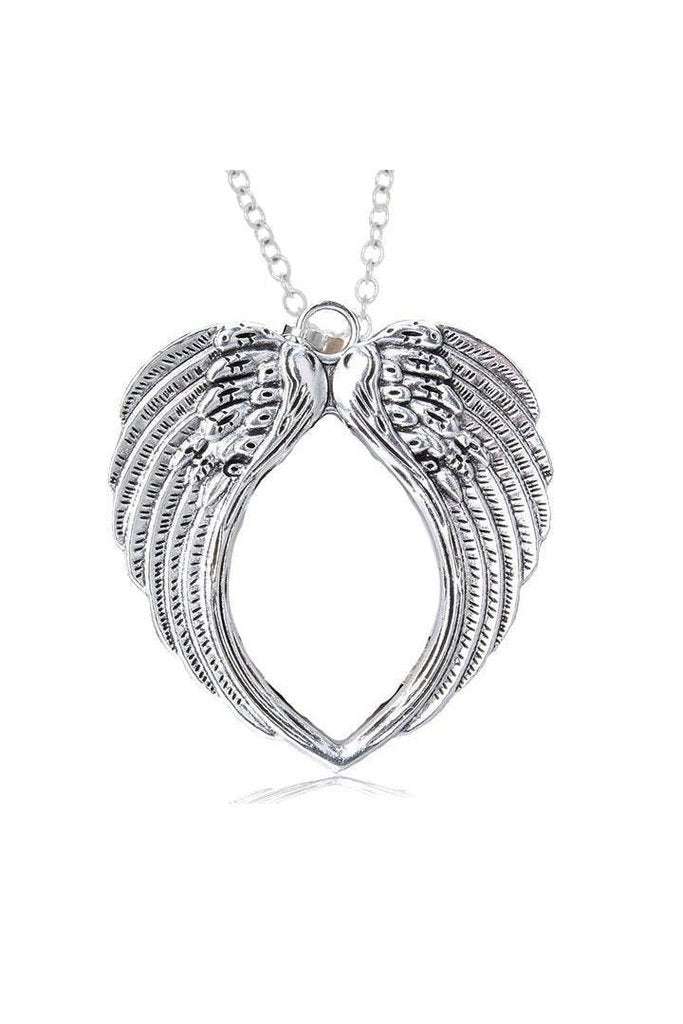 Angel Wings Large Pendant and Necklace - Khloe-Dr Faust-Dark Fashion Clothing