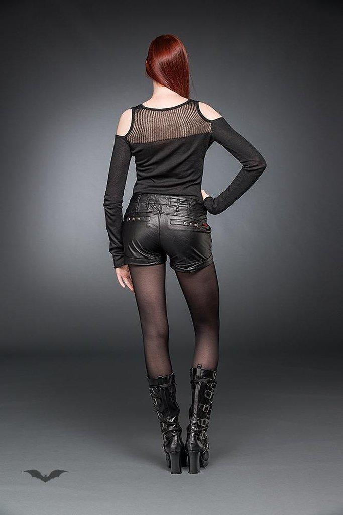 Artificial Leather Hot-Pants-Queen of Darkness-Dark Fashion Clothing