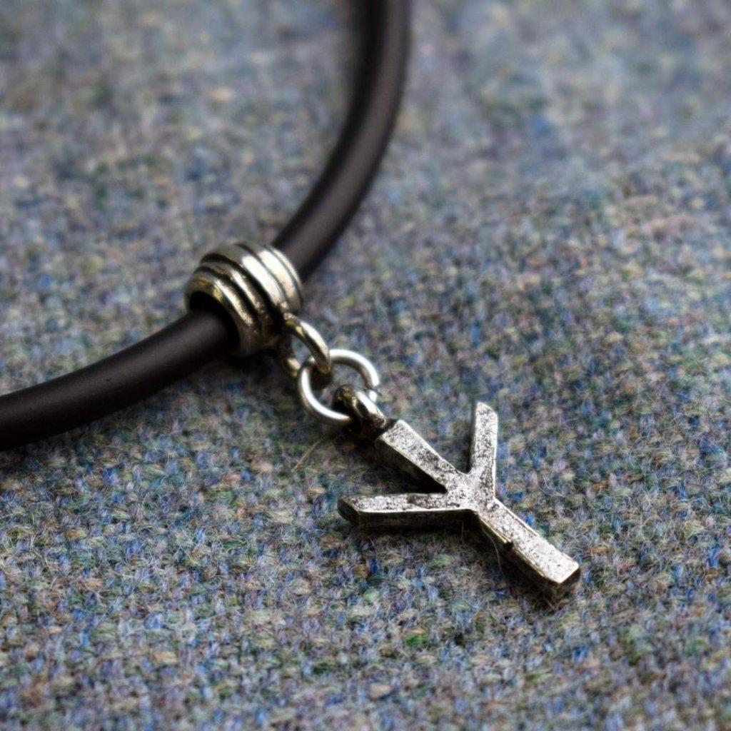 Asgard Algiz Rune Pendant-Asgard-Dark Fashion Clothing
