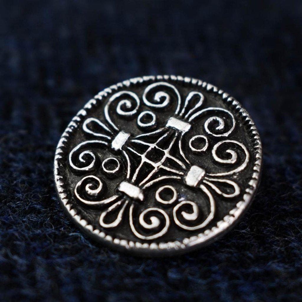 Asgard Jorvik Scroll Work Brooch-Asgard-Dark Fashion Clothing