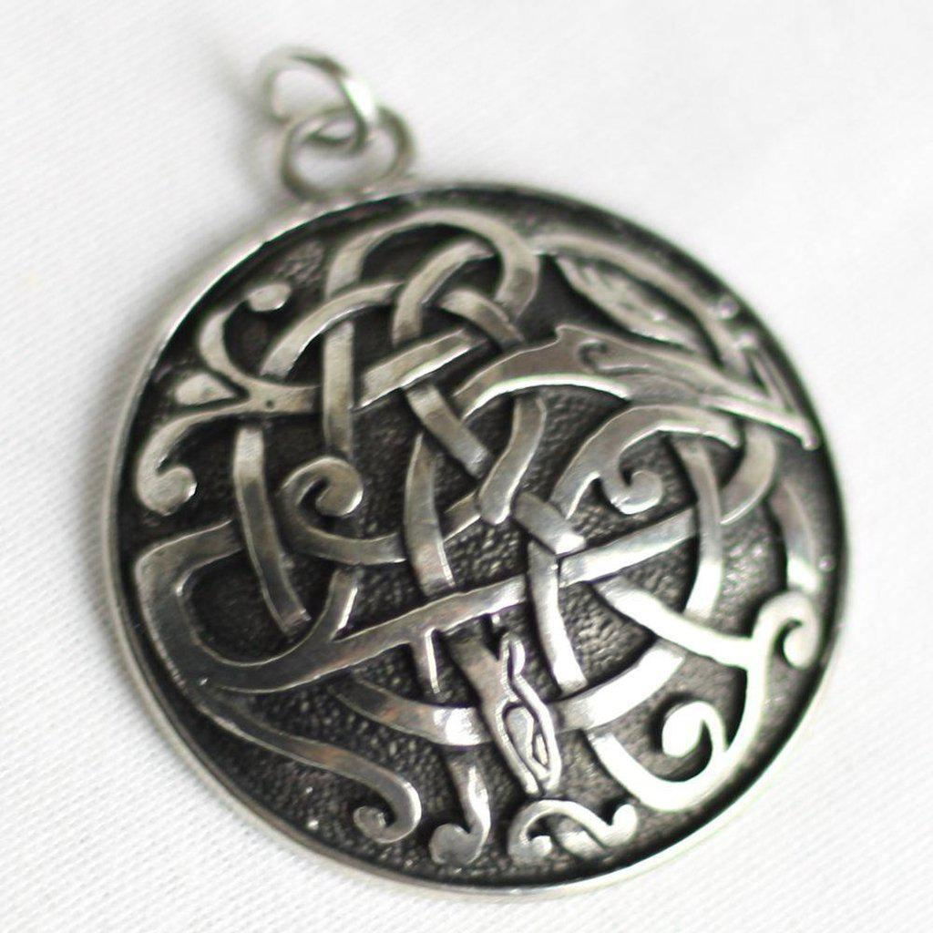 Asgard Kells serpent Beast Celtic Pendant-Asgard-Dark Fashion Clothing