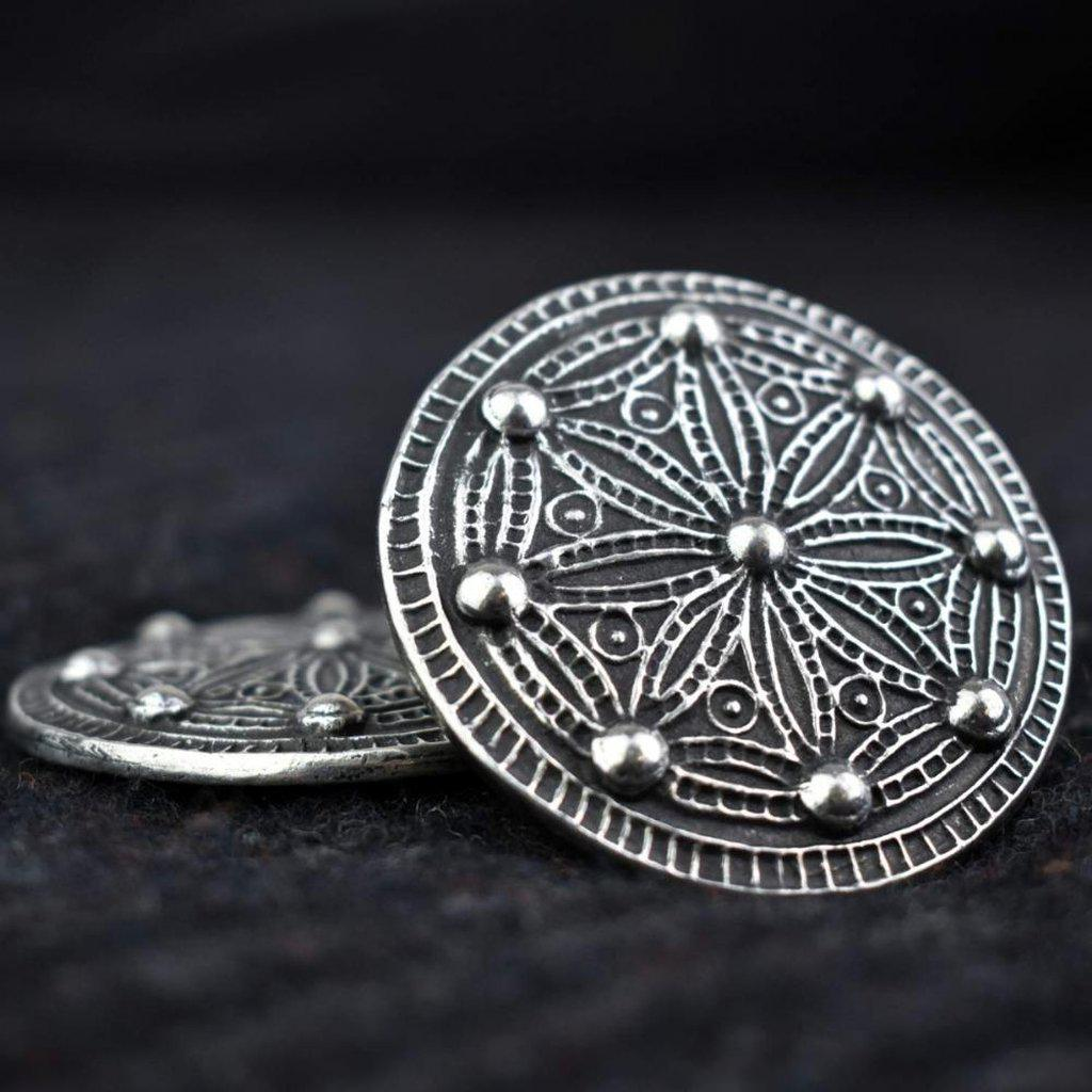 Asgard Medium York Disc Brooch-Asgard-Dark Fashion Clothing