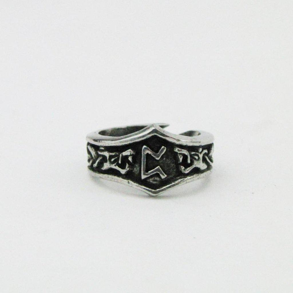 Asgard Peorth Letter P Rune Ring - Adjustable-Asgard-Dark Fashion Clothing