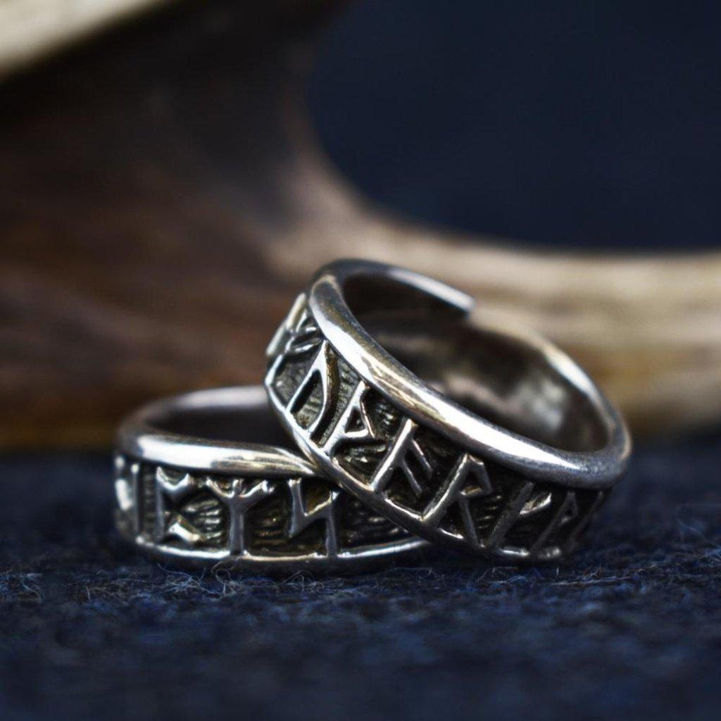 Asgard Rune Ring – Pewter or Sterling Silver-Asgard-Dark Fashion Clothing