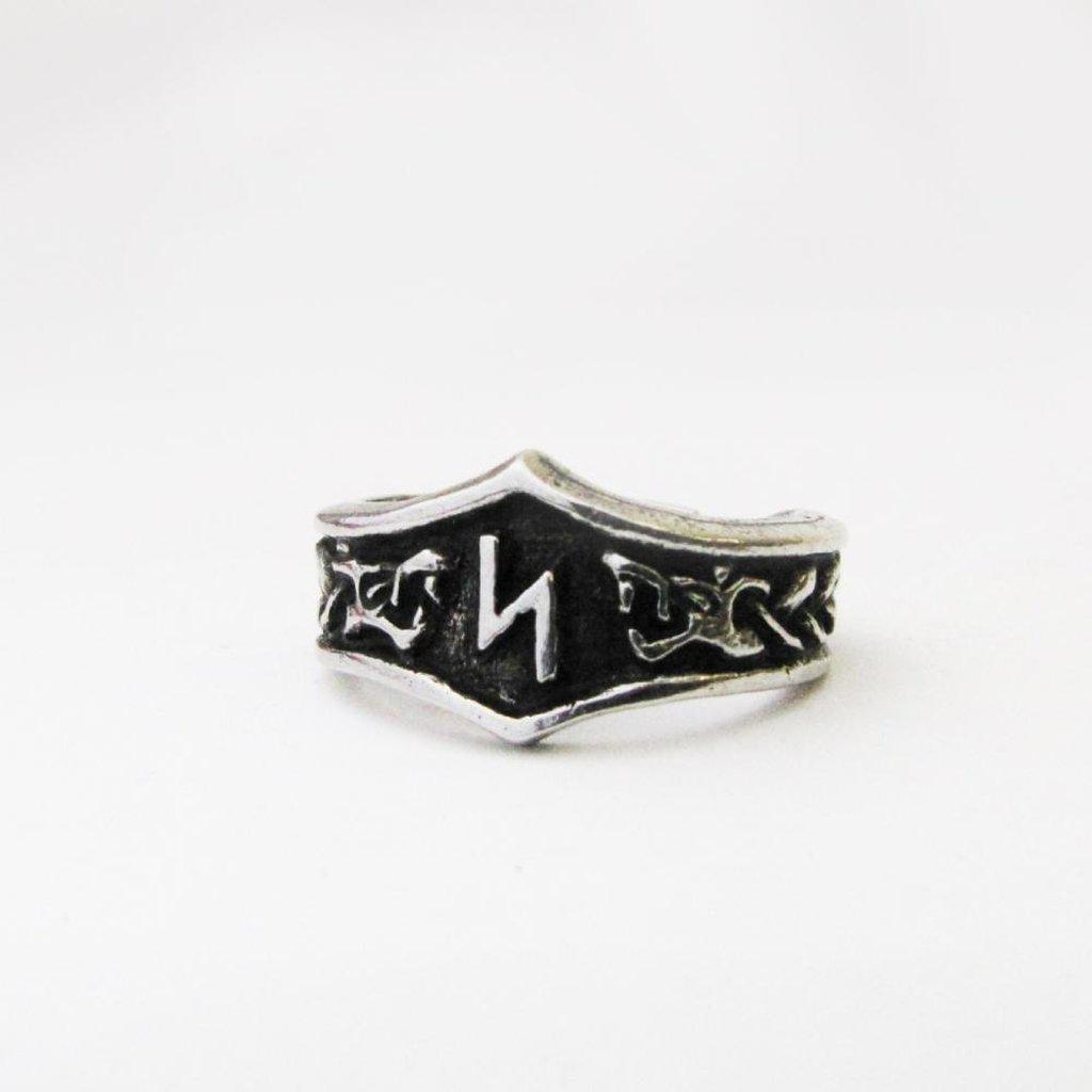 Asgard Sowilo Letter S Rune Ring - Adjustable-Asgard-Dark Fashion Clothing