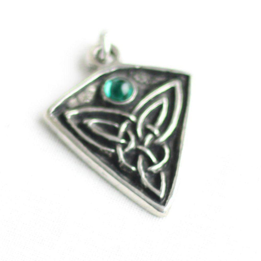 Asgard St Ninian's Knot Pendant – Blue, Green or Red Stone-Asgard-Dark Fashion Clothing