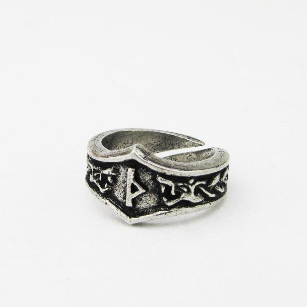 Asgard Thuriaz TH Rune Ring - Adjustable-Asgard-Dark Fashion Clothing