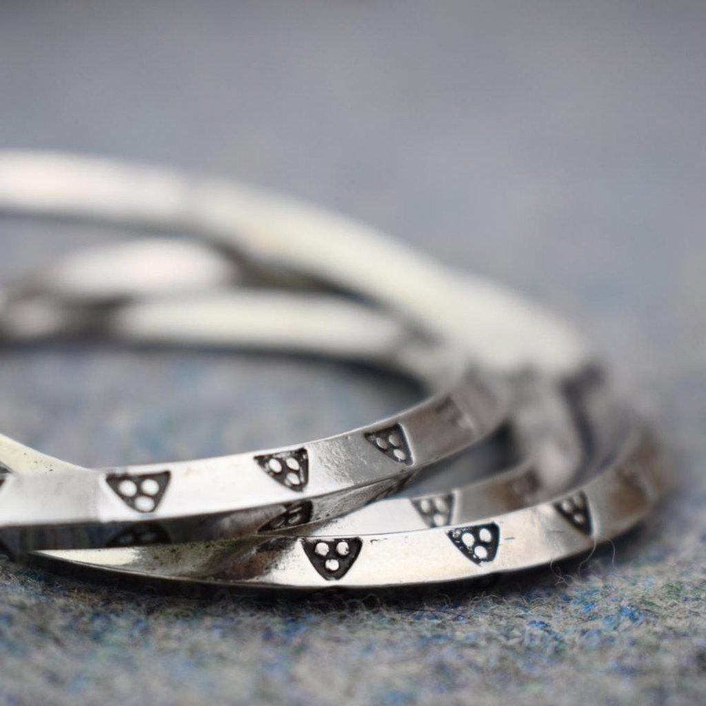 Asgard Triangle Pattern Ring Money Bracelet-Asgard-Dark Fashion Clothing