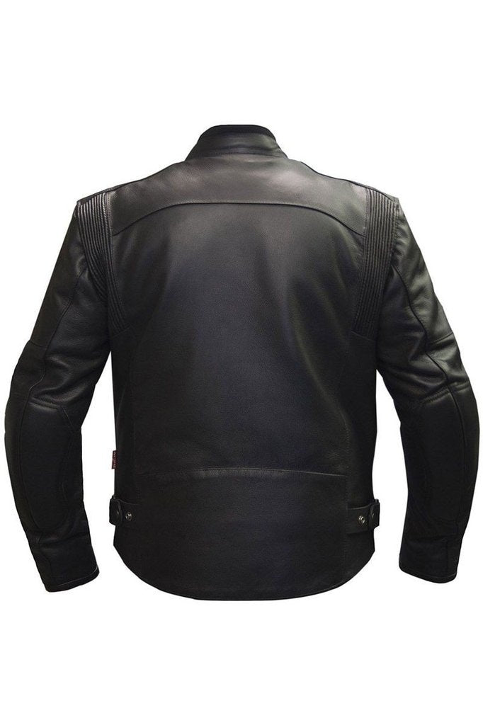 Assen Biker Jacket-Skintan Leather-Dark Fashion Clothing