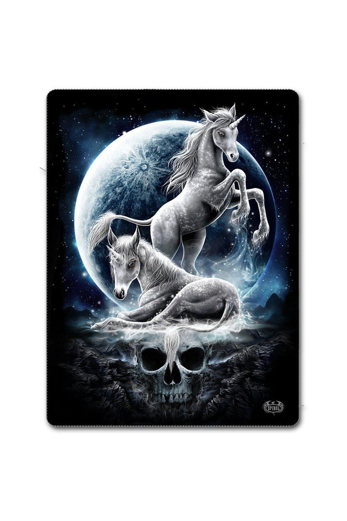 Baby Unicorn - Fleece Blanket With Double Sided Print-Spiral-Dark Fashion Clothing