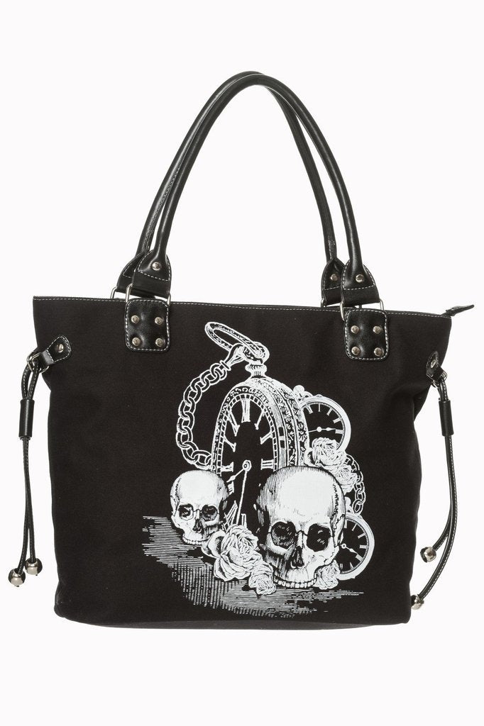 Back In Black Tote Bag-Banned-Dark Fashion Clothing