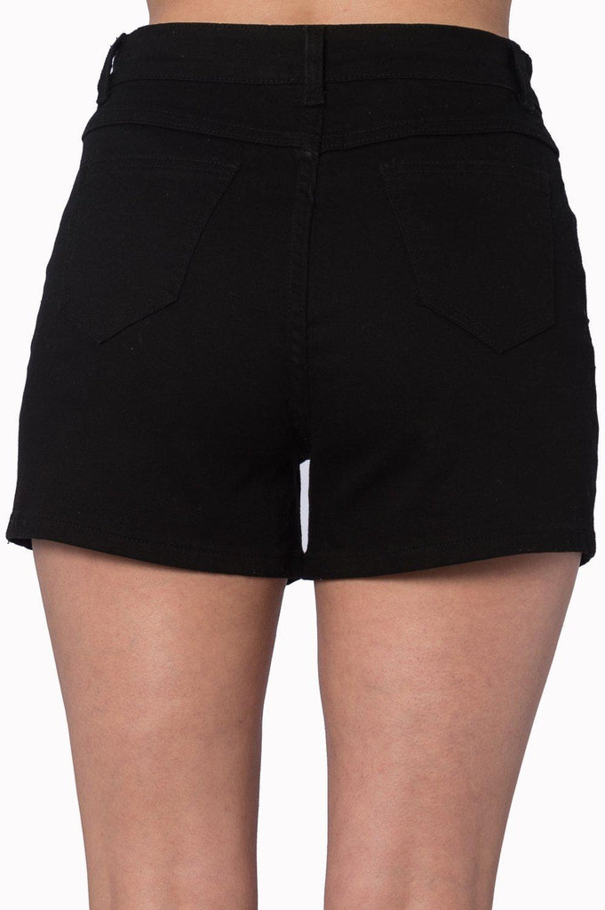 Bell Tower Bat Shorts-Banned-Dark Fashion Clothing