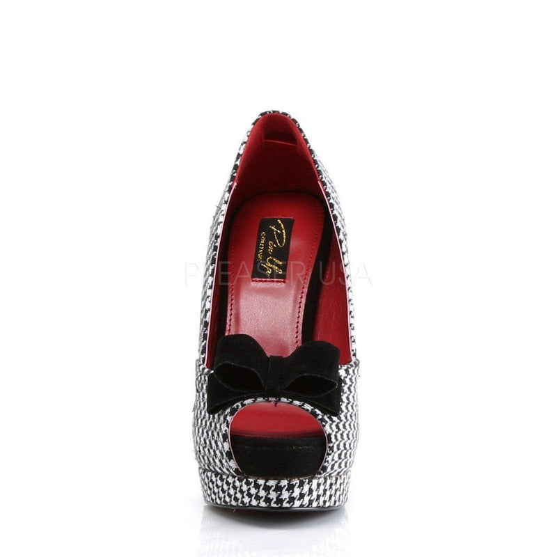 Bella-11 Fabric High Heel Rockabilly Platform Shoes-Pin Up Couture-Dark Fashion Clothing