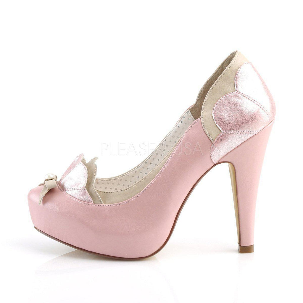 86acb9b5bbf Bettie-20 Faux Leather Scalloped Pump Platform High Heel Shoes-Pin Up  Couture-