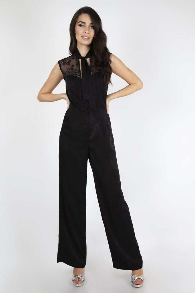 Bianca Satin Jumpsuit-Voodoo Vixen-Dark Fashion Clothing