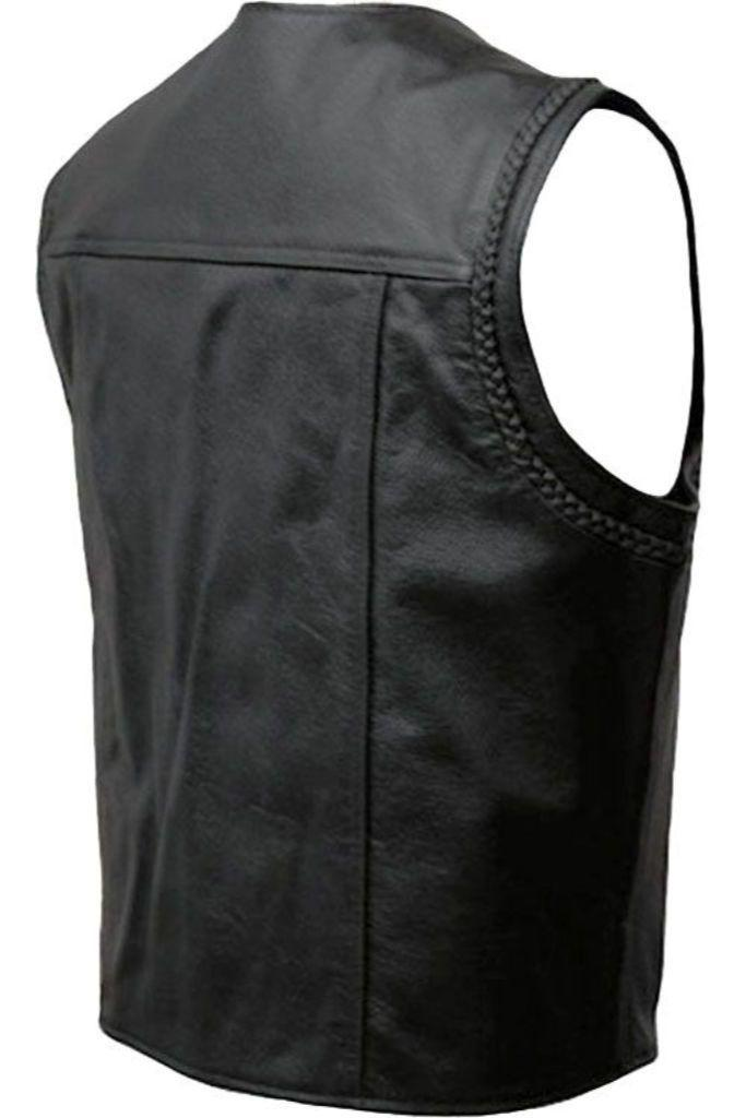 Biker Vest - Bobby-Skintan Leather-Dark Fashion Clothing