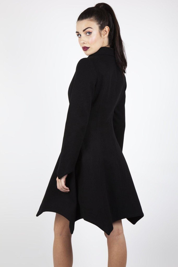 Bite Me Bat Hem Coat-Jawbreaker-Dark Fashion Clothing