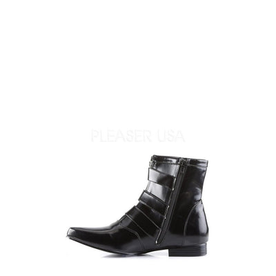 Black Nappa Vegan Leather Vegan Boots - BROGUE-06 - Unisex-Demonia-Dark Fashion Clothing