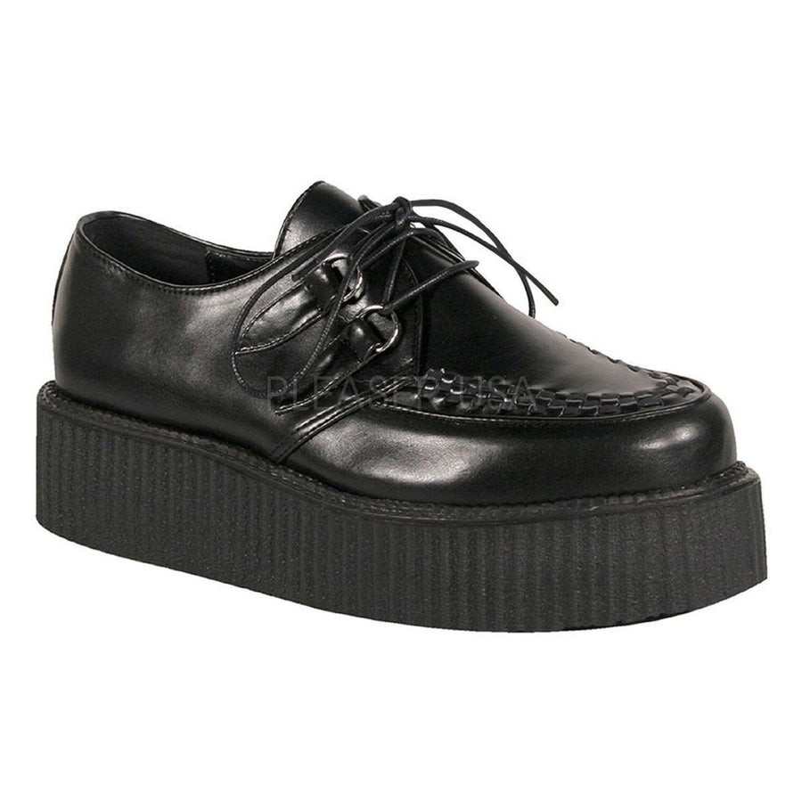Black Vegan Leather Creepers - Unisex-Demonia-Dark Fashion Clothing