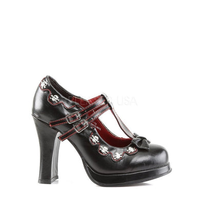 Black Vegan Leather Platform Shoes - CRYPTO-06 - Womens-Demonia-Dark Fashion Clothing