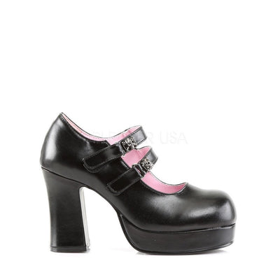 Black Vegan Leather Platform Shoes - GOTHIKA-09 - Womens-Demonia-Dark Fashion Clothing