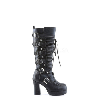 Black Vegan Leather Vegan Boots - GOTHIKA-200 - Womens-Demonia-Dark Fashion Clothing
