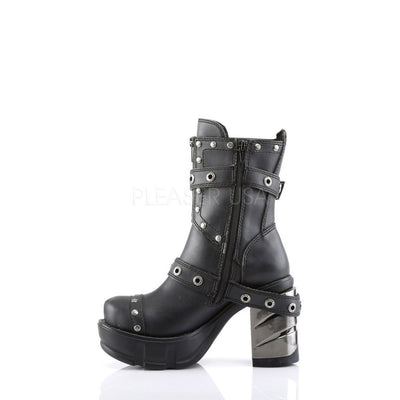 Black Vegan Leather Vegan Boots - SINISTER-201 - Womens-Demonia-Dark Fashion Clothing