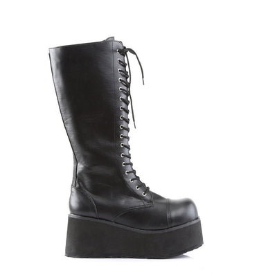 Black Vegan Leather Vegan Boots - TRASHVILLE-502 - Unisex-Demonia-Dark Fashion Clothing