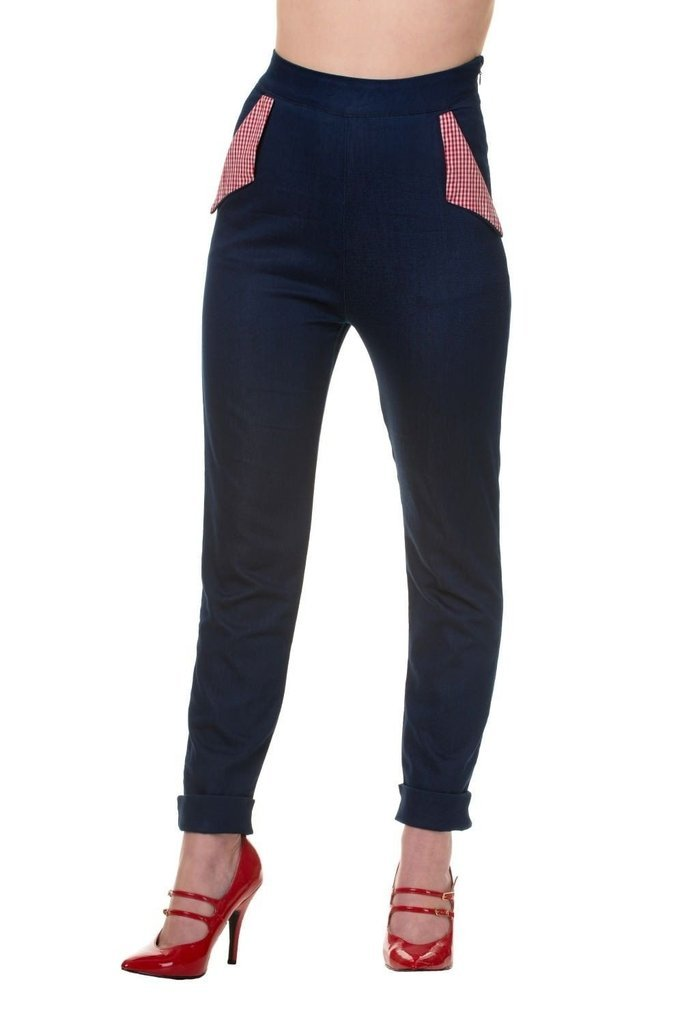 Blueberry Hill Trousers-Banned-Dark Fashion Clothing
