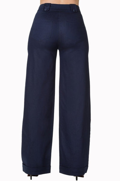 Blueberry Hills Flared Trousers-Banned-Dark Fashion Clothing