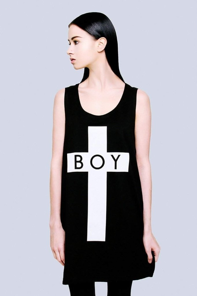Boy Cross Vest - Unisex-Long Clothing-Dark Fashion Clothing
