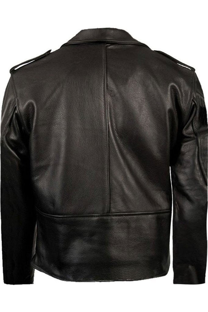Brando Classic Biker Jacket-Skintan Leather-Dark Fashion Clothing