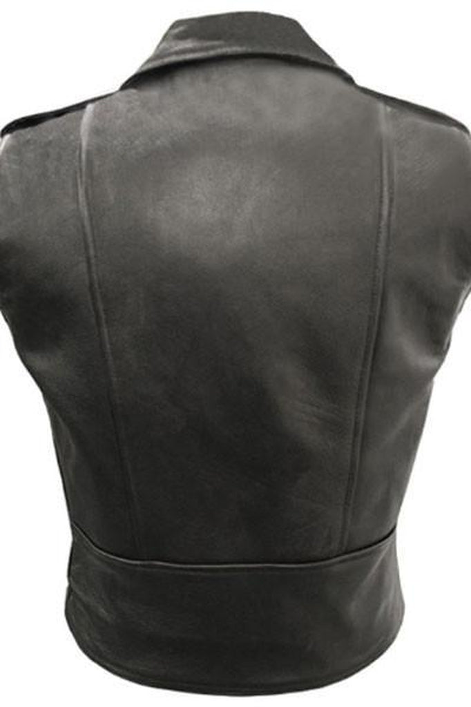Brando Sleeveless Biker Vest - Skintan Leather-Skintan Leather-Dark Fashion Clothing