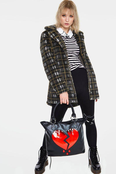 Broken Hearts Handbag-Jawbreaker-Dark Fashion Clothing