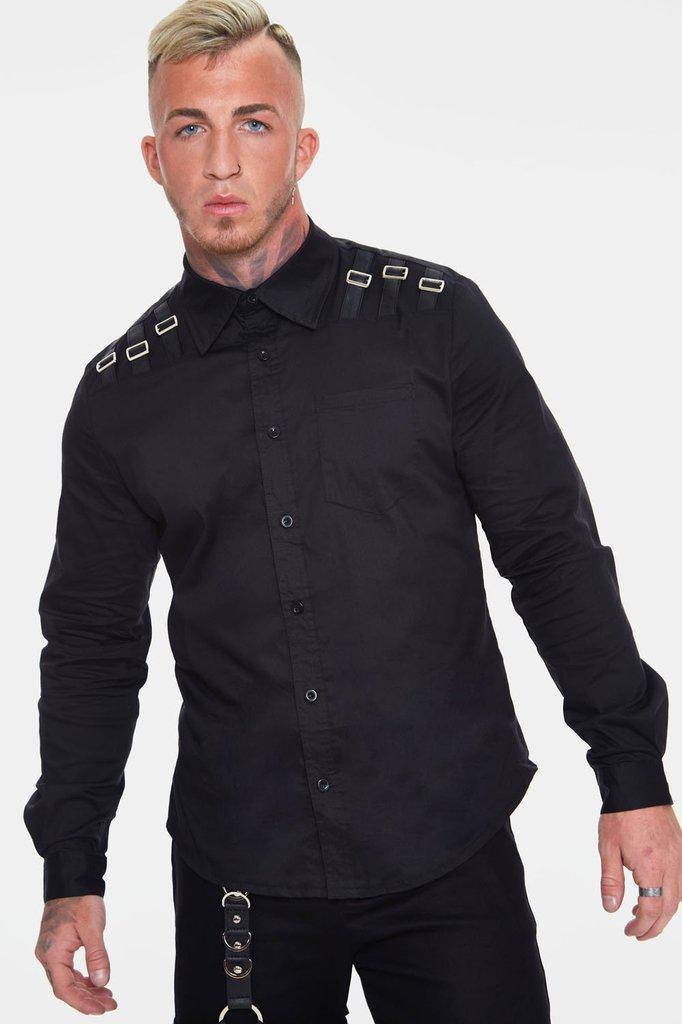 Buckle Down Shirt-Jawbreaker-Dark Fashion Clothing