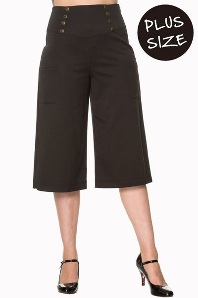 Cecile Plus Size Trousers-Banned-Dark Fashion Clothing