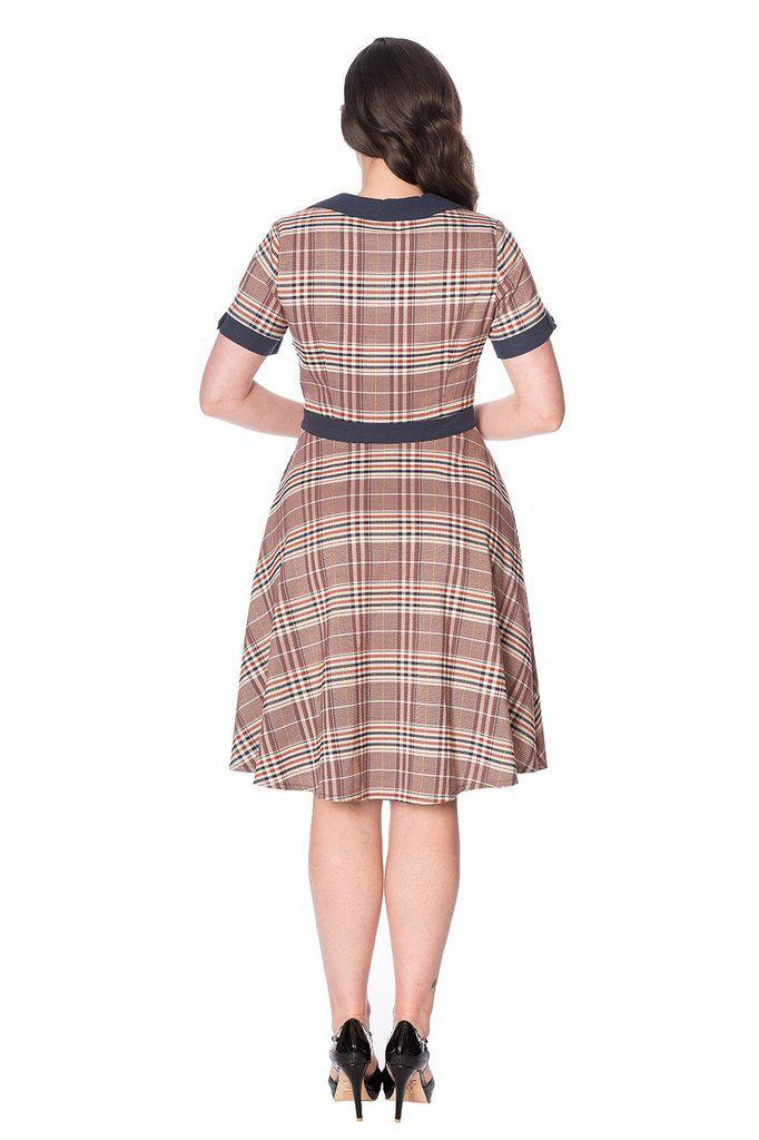 Check Mate Flare Dress-Banned-Dark Fashion Clothing
