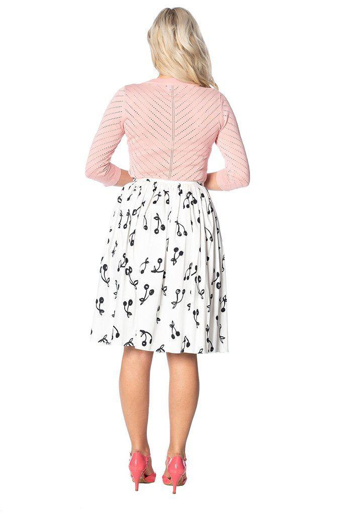 Cherry Pop Front Button Skirt-Banned-Dark Fashion Clothing