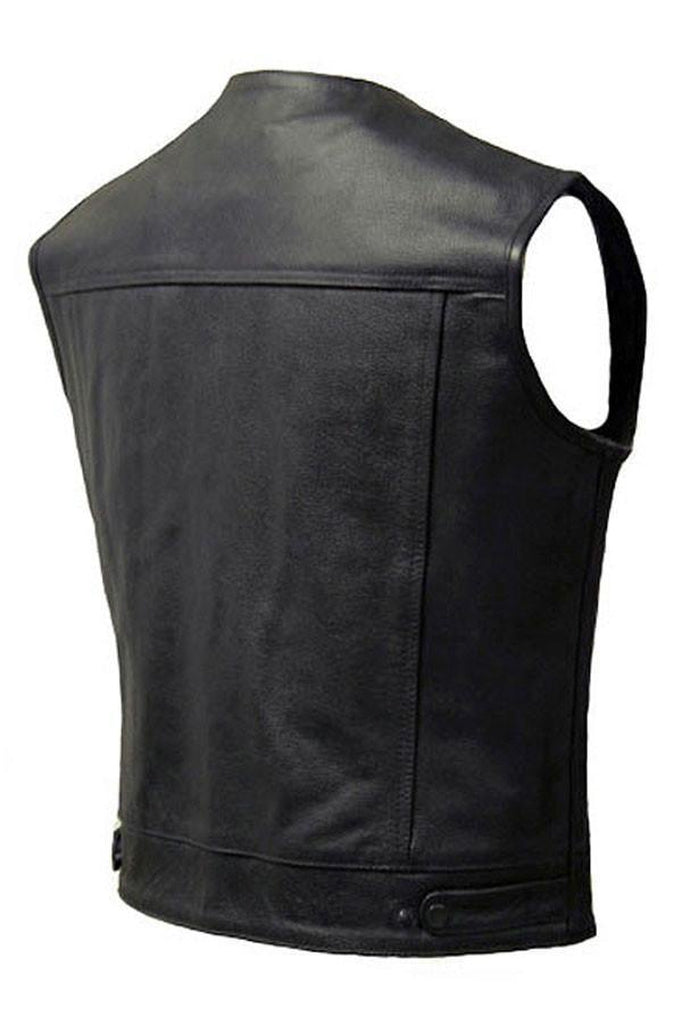 Classic Cut-Off Outlaw Vest - Opie-Skintan Leather-Dark Fashion Clothing