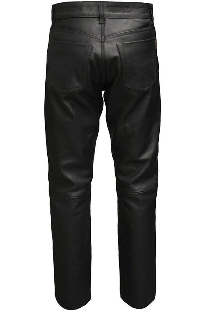 Classic Motorbike Trousers-Skintan Leather-Dark Fashion Clothing
