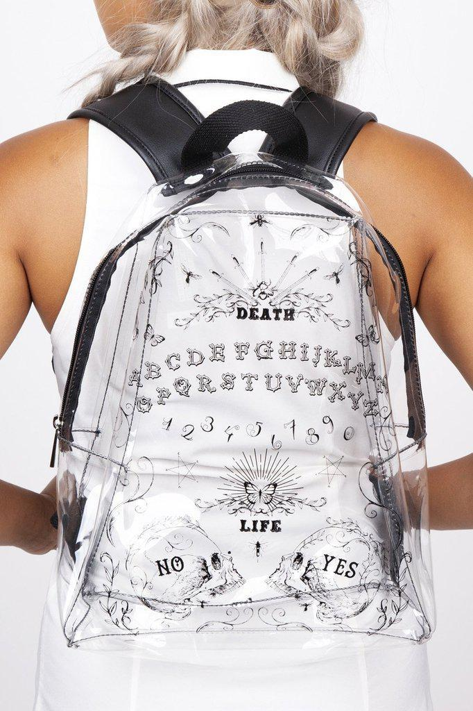 Clear Ouija Backpack-Jawbreaker-Dark Fashion Clothing