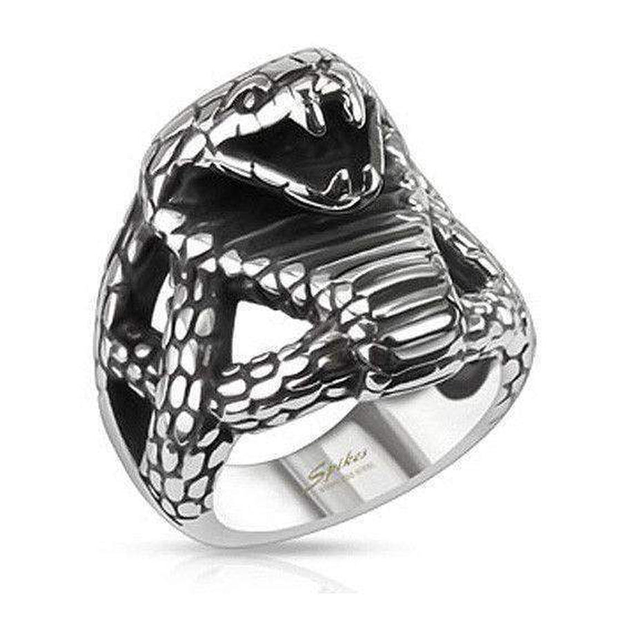 Cobra Ring - Stainless Steel