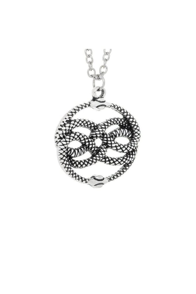 Coiled Snakes Lemniscate Pendant and Necklace - Kimberly-Dr Faust-Dark Fashion Clothing
