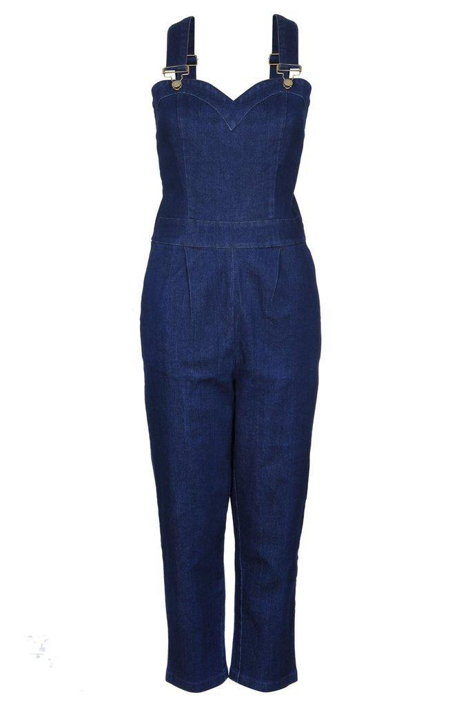 best site new collection size 40 Connie Fitted Capri Overalls