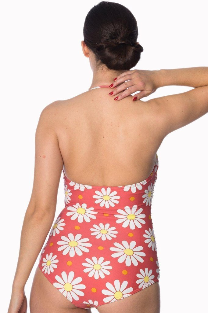 Crazy Daisy Halter Swimsuit-Banned-Dark Fashion Clothing