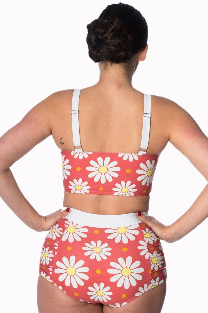 Crazy Daisy Plus Size Built Up Swimsuit Bottoms-Banned-Dark Fashion Clothing